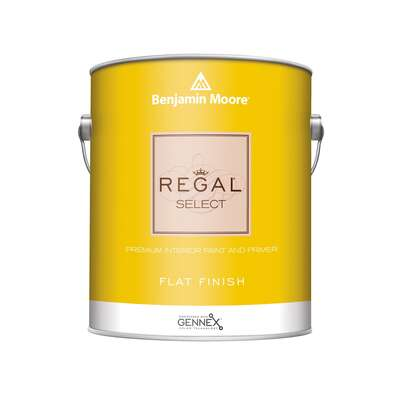 Benjamin Moore  Regal Select  Flat  Base 3  Paint and Primer  Interior  1 gal.