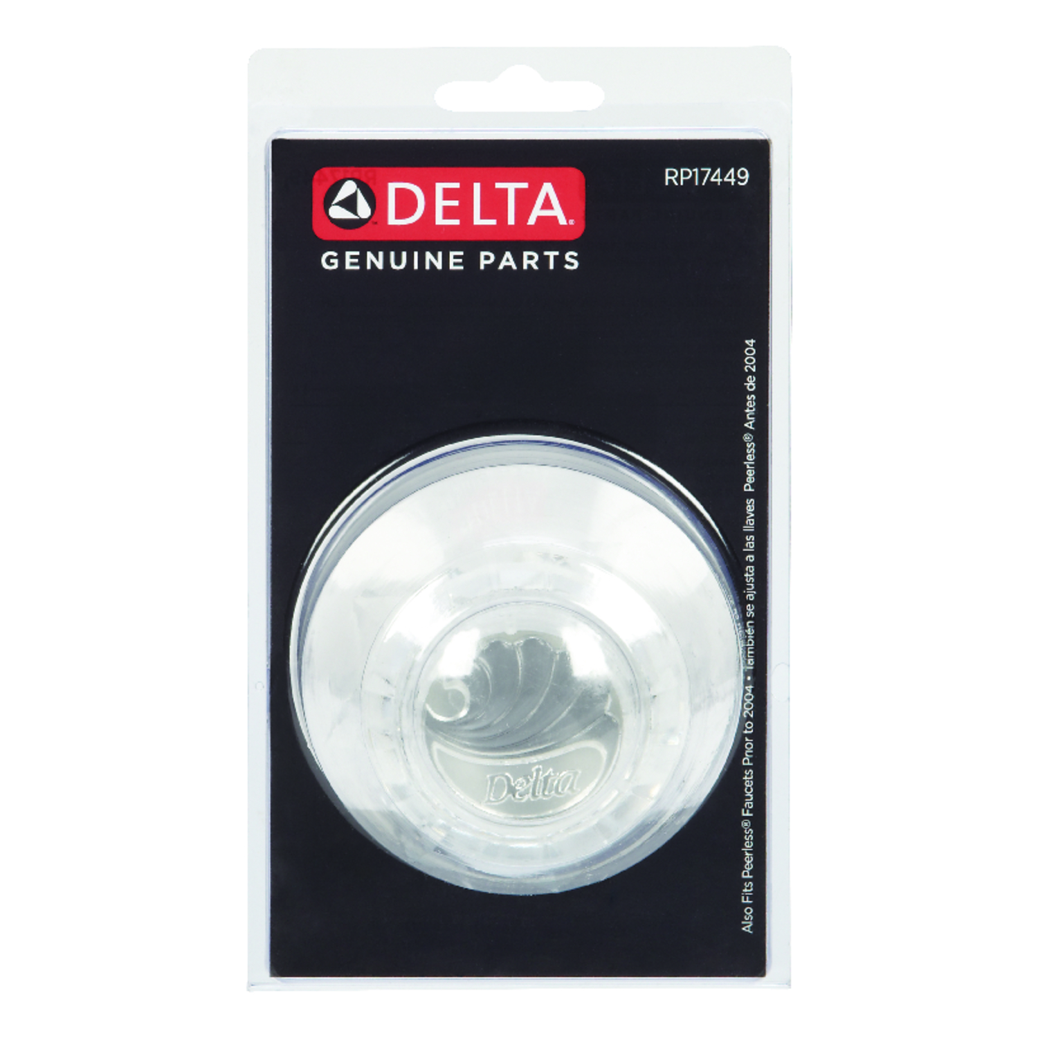 Delta  Knob  Acrylic  Clear  Single  Faucet Handles