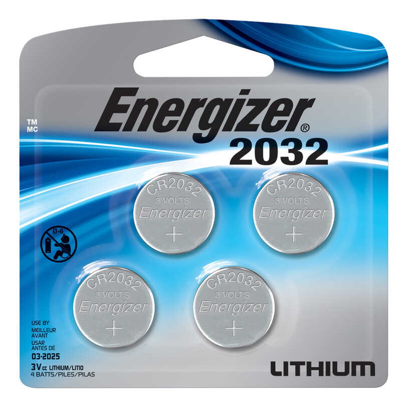 Energizer  2032  Lithium  4 pk Electronic/Watch Battery  3 volt