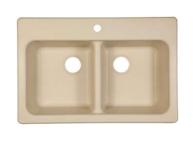 Franke  Composite Granite  Dual Mount  33 in. W x 22 in. L Two Bowls  Kitchen Sink