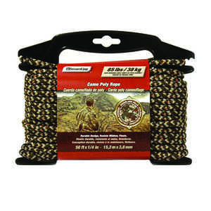 SecureLine  50 ft. L x 1/4 in. Dia. Camouflage  Diamond Braided  Polypropylene  Rope