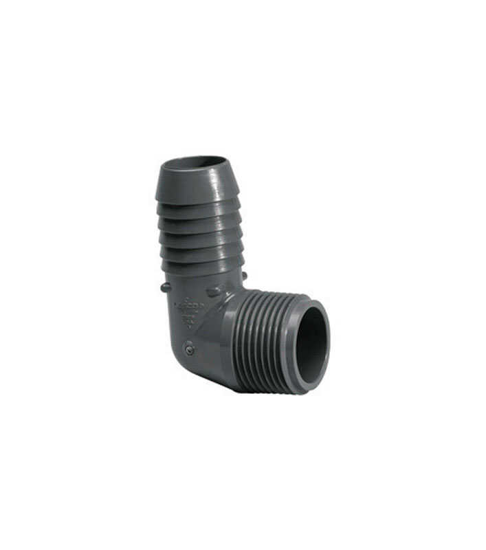 Lasco  Schedule 40  1-1/2 in. Insert   x 1-1/2 in. Dia. MPT  PVC  90 Degree Elbow