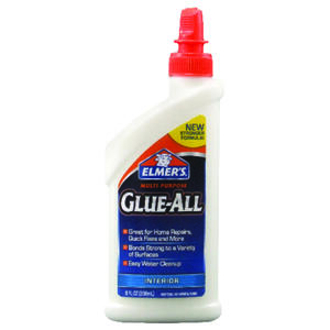 Elmer's  Glue-All  High Strength  Polyvinyl acetate homopolymer  Glue  8 oz.