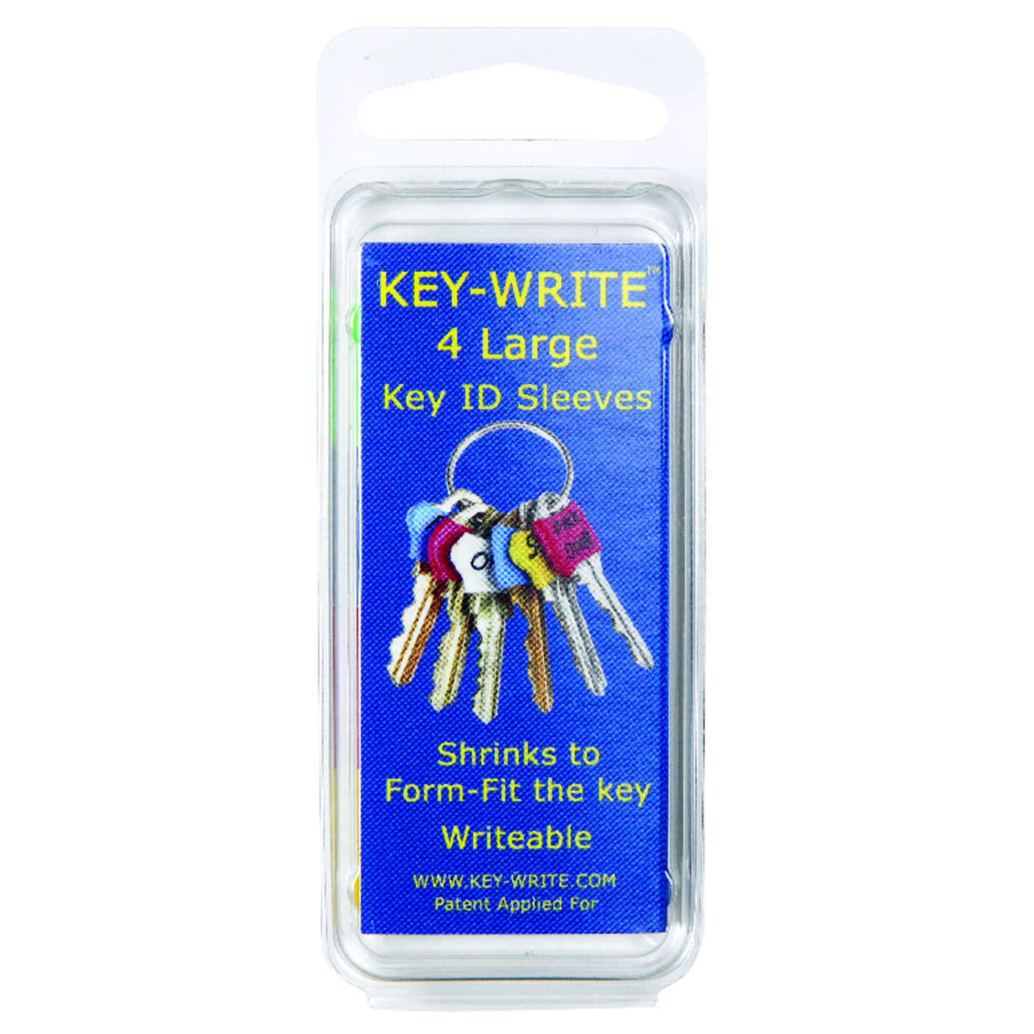 Key-Write  Plastic  Key Sleeve  Assorted