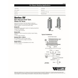 Watts  1/8 in. Air Vent