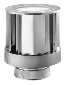 Duravent  6 in. Dia. Galvanized/Stainless Steel  Termination Cap