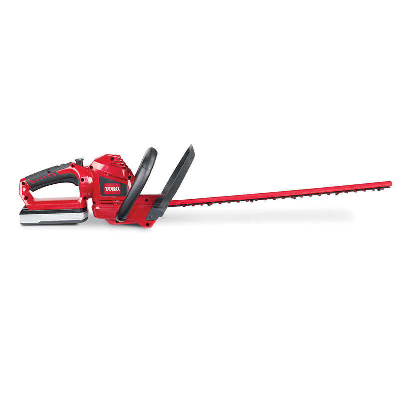 Toro  22 in. L 20 volt Battery  Hedge Trimmer