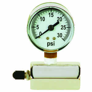 Sioux Chief  2 Inches in. Dia. Pressure Gauge  Polycarbonate