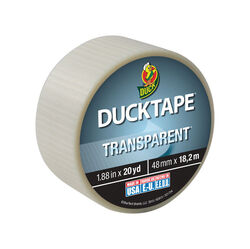 Duck  1.88 in. W x 20 yd. L Clear  Duct Tape