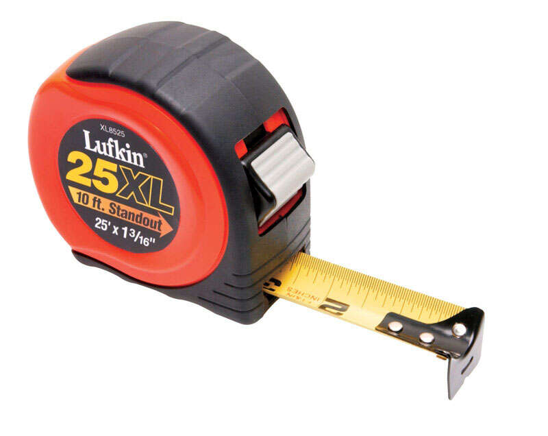 Lufkin  1.19 in. W x 25 ft. L Power Return Tape Measure  Assorted  1 pk
