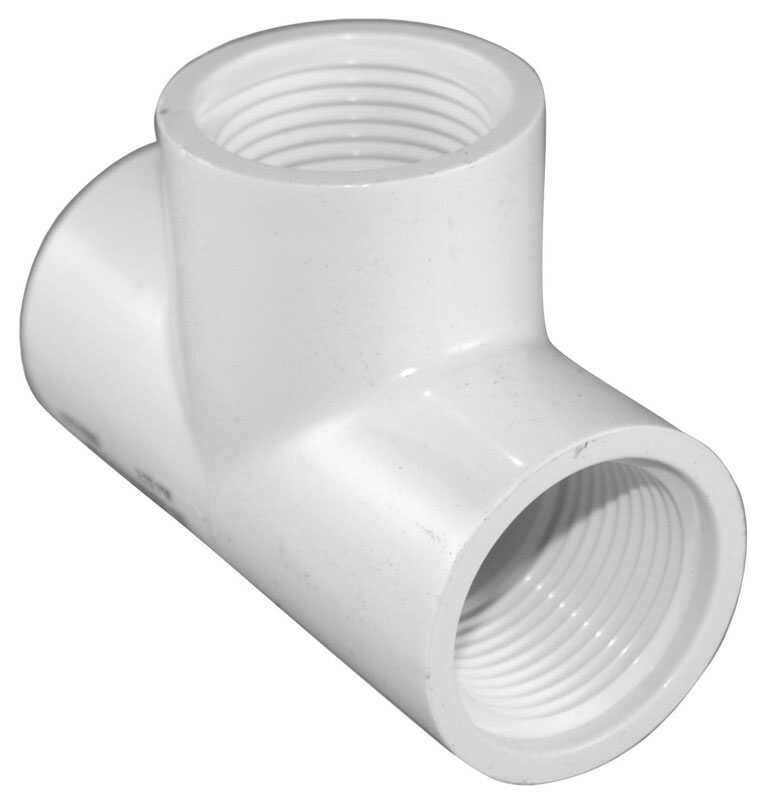 Charlotte Pipe  Schedule 40  1 in. FPT   x 1 in. Dia. FPT  PVC  Threaded Tee