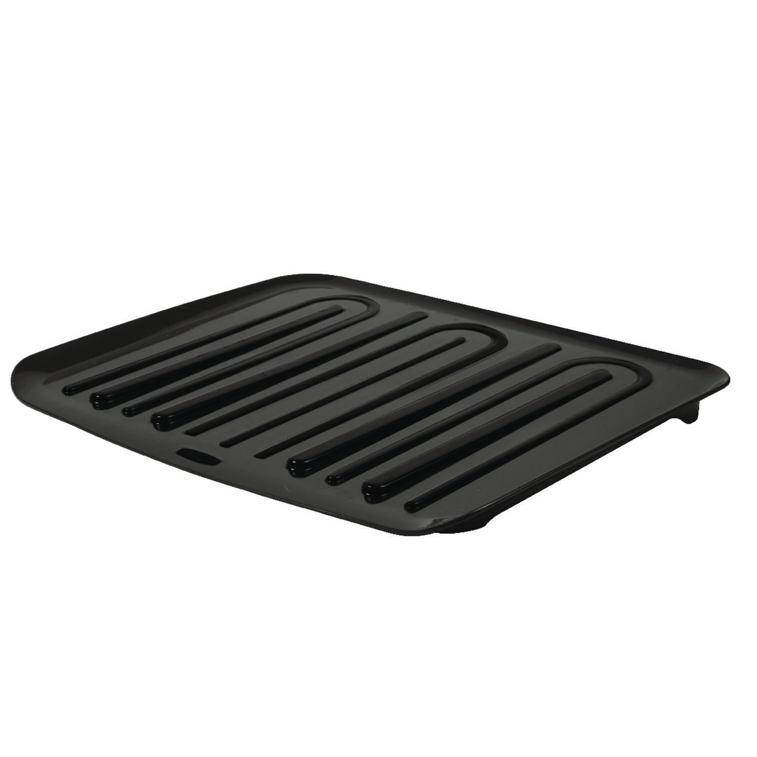 Rubbermaid  1.3 in. H x 18 in. W x 14.8 in. L Plastic  Dish Drainer  Black