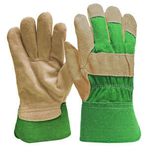 Digz  Green  Women's  M  Suede Leather  Gardening Gloves