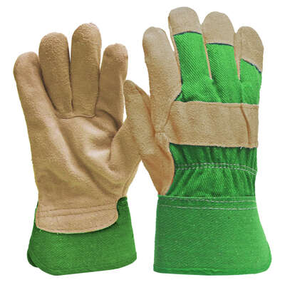 Digz  Women's  Indoor/Outdoor  Suede Leather  Gardening Gloves  Green  M  1 pk