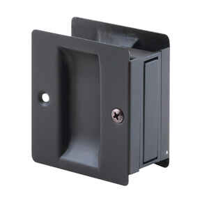 Prime-Line  2.5 in. L Bronze  Black  Brass  Pocket Door Pull