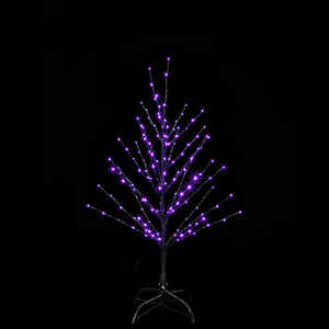 Santa's Best  Twig Tree  Lighted Halloween Decoration  36 in. H x 24 in. W 1 pk