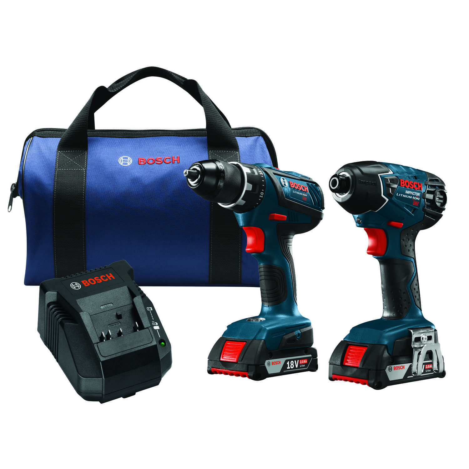 Bosch  Compact Tough  Cordless  Drill/Driver and Impact Driver Combo Kit  18 volt