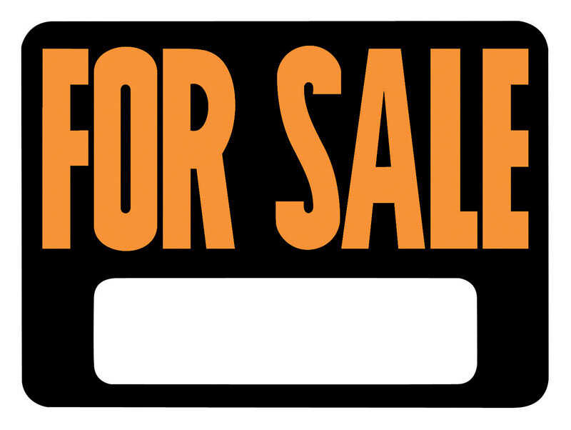 Hy-Ko  English  For Sale  Sign  Plastic  9 in. H x 12 in. W