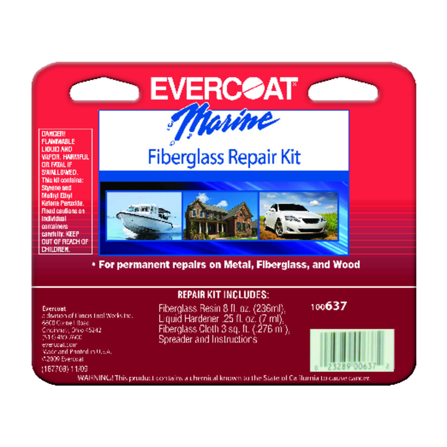 Evercoat Fiberglass Repair Kit 8 Oz Ace Hardware