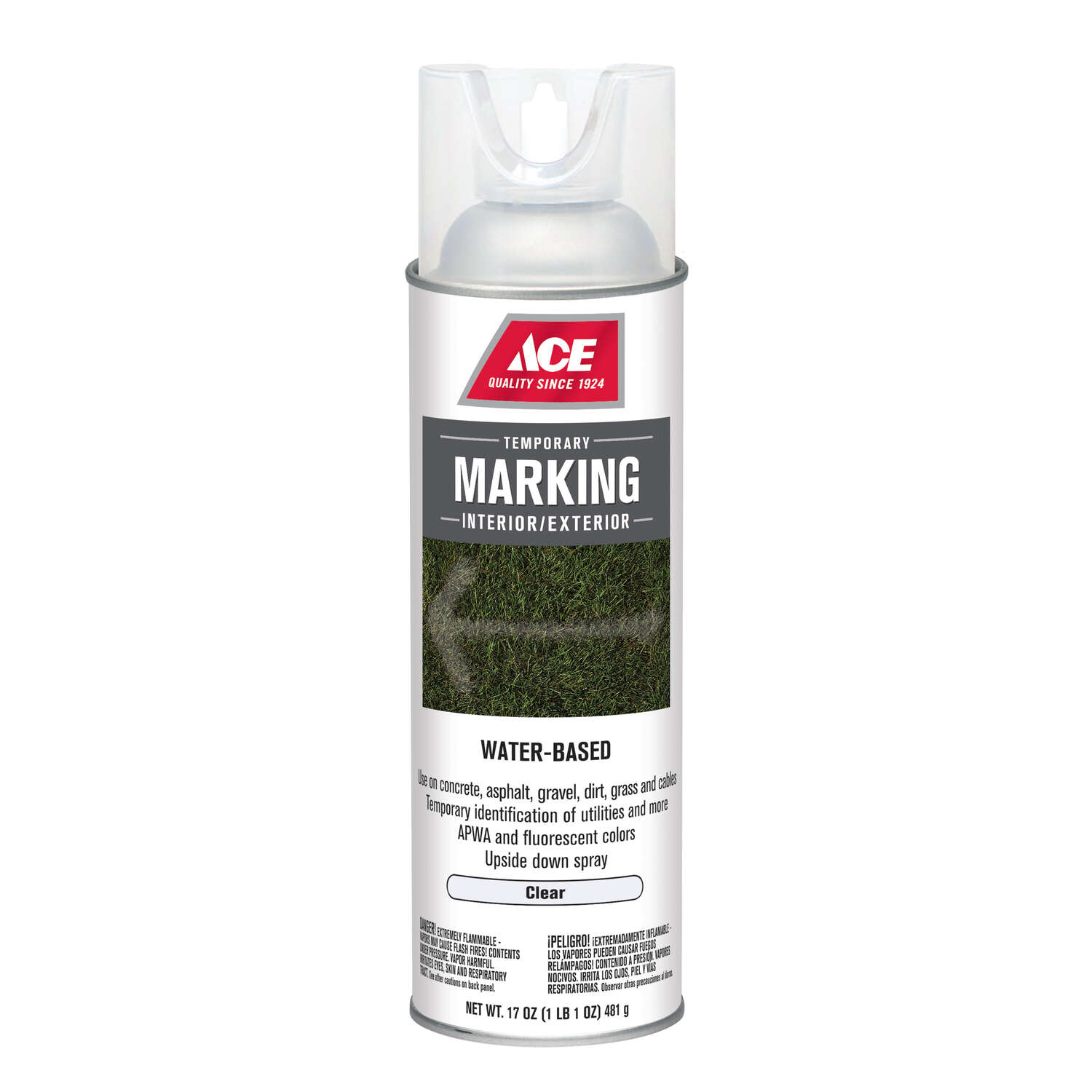Ace  Water-Based  Clear  Field Marking Chalk  17 oz.