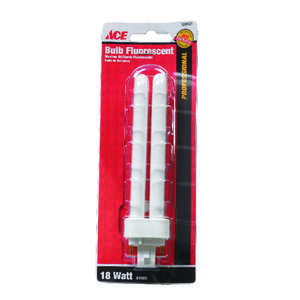 Ace  18 watts 4.45 in. Cool White  Fluorescent Bulb  1250 lumens Biax  1 pk