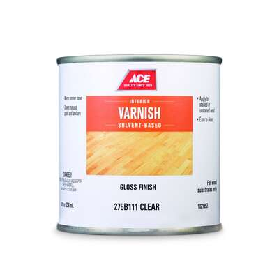 Ace  Gloss  Clear  Solvent-Based  Varnish  8 oz.