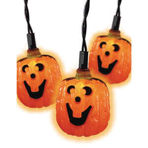 Celebrations  Pumpkin Lights  Lighted Halloween Decoration  10 lights