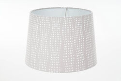 Living Accents  Drum  Brown/White  Fabric  Lamp Shade  1 pk