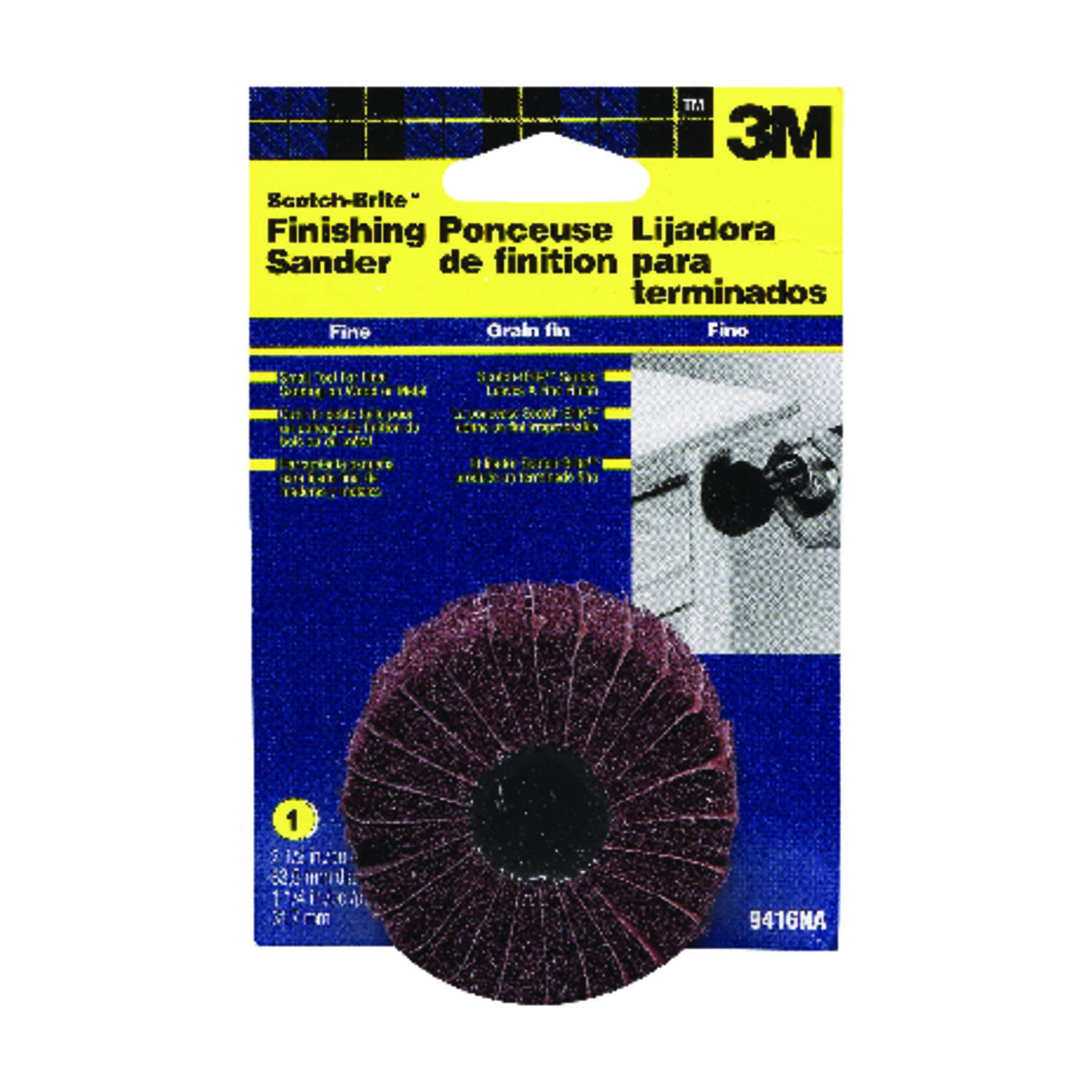 3M  2.5 in. Aluminum Oxide  Hook and Loop  Sanding Disc  50 Grit Fine  1 pk