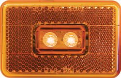 Peterson  Piranha  Amber  Rectangular  Clearance/Side Marker  LED Light