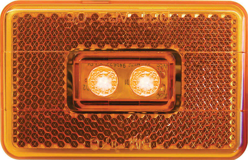 Peterson  Rectangle  Clearance Light  Amber