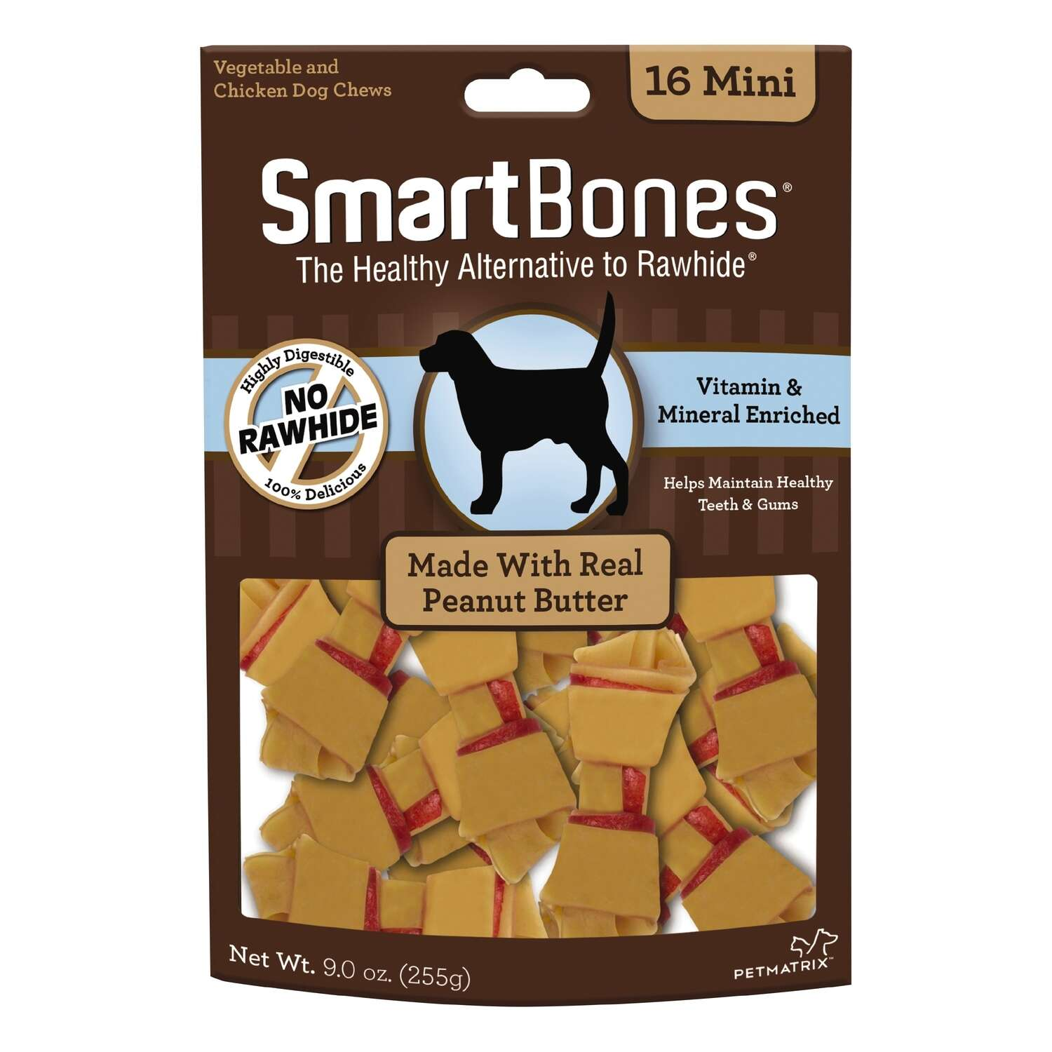 SmartBones  Peanut Butter  Treats  For Dogs 9 oz. 16 pk