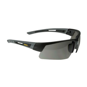DeWalt  Crosscut  Safety Glasses  Smoke Lens Black Frame 1 pc.