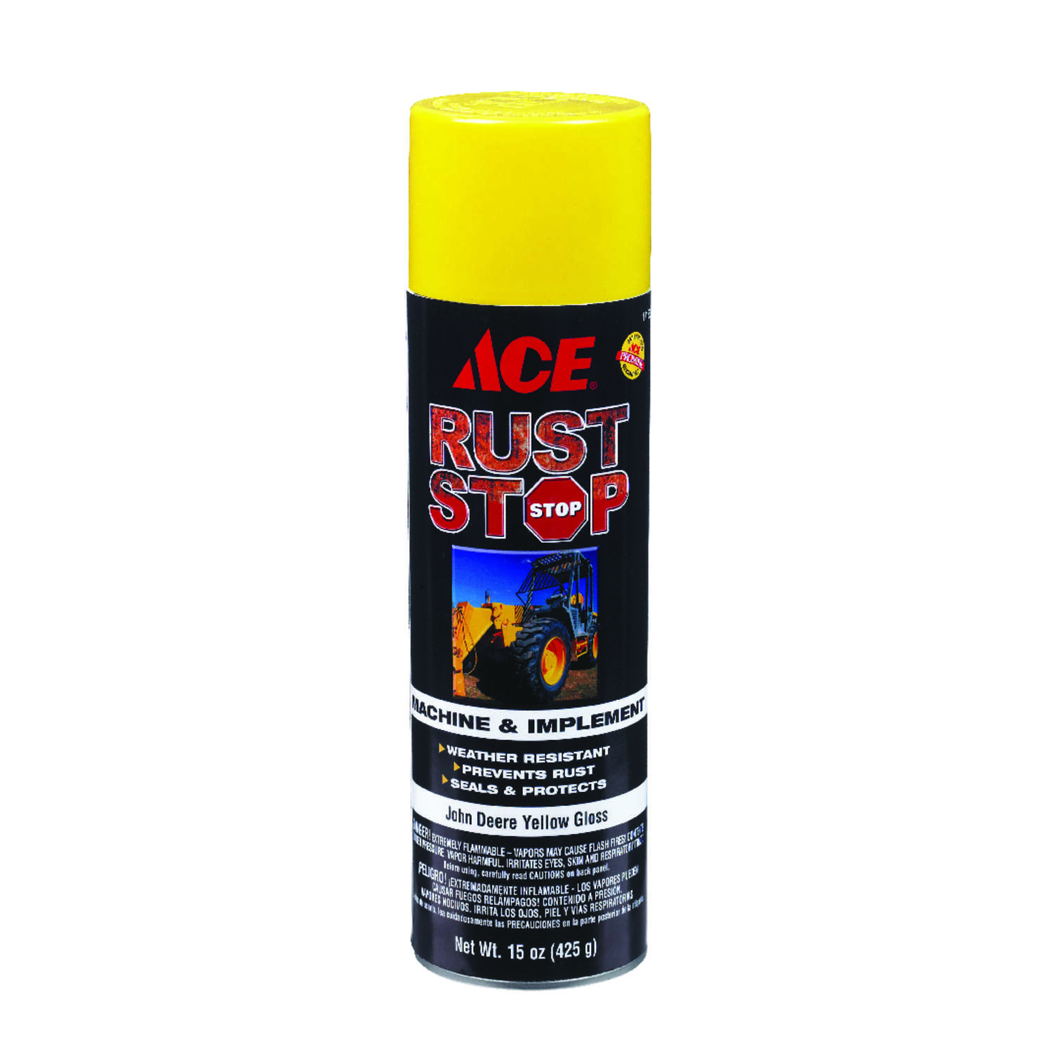 Ace  Rust Stop  Gloss  Machine And Implement Enamel Spray Paint  15 oz. John Deere Yellow