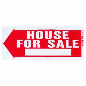 Hy-Ko  English  House for Sale  Sign  Plastic  10 in. H x 24 in. W