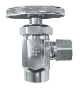 Ace  1/2  FPT   x 3/8   FPT  Brass  Shut-Off Valve
