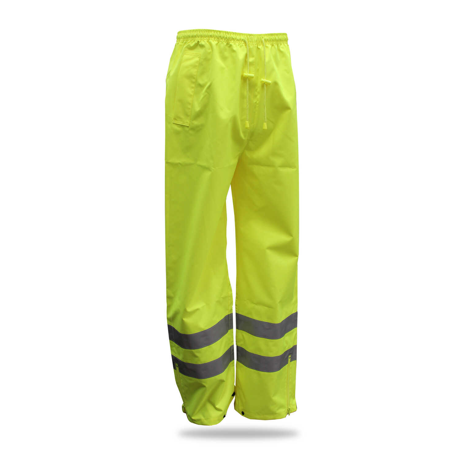 Boss  Hi-Vis  Yellow  Polyester  Rain Pants  M
