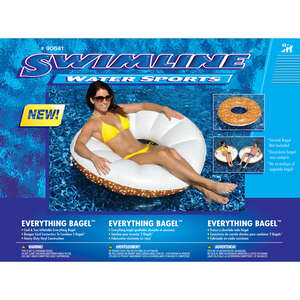 Swimline  White  Multicolored  Vinyl  Inflatable Pool Float