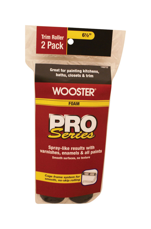 Wooster  Pro Series  Foam  0   Paint Roller Cover  Trim  2 pk For Semi-Rough Surfaces