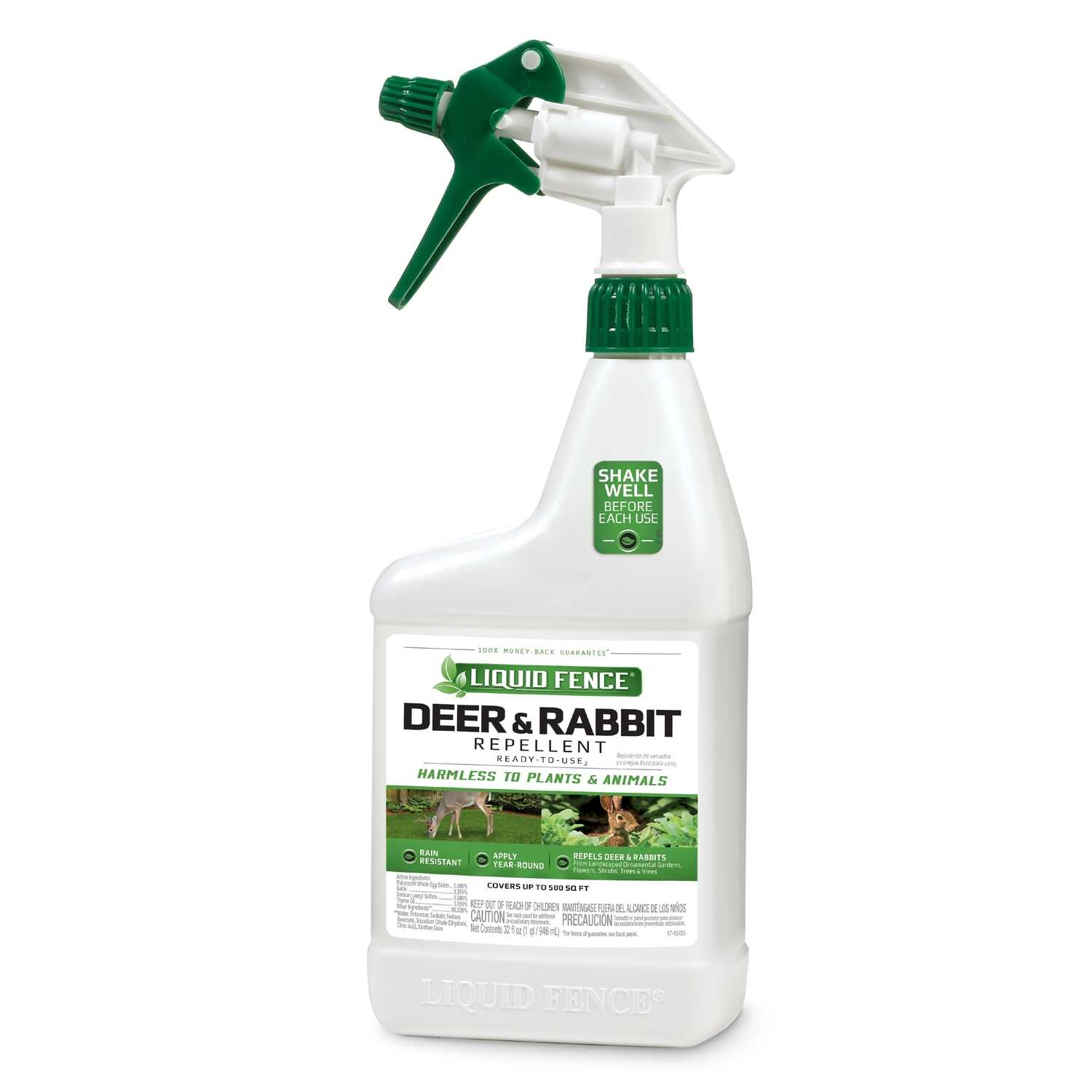 Liquid Fence Animal Repellent Spray For Deer and Rabbits ...