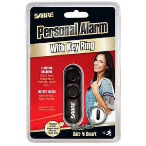 Sabre  Black  Plastic  Personal Security Alarm