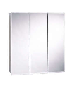 Zenith Metal Products  31-3/4 in. W x 4-1/2 in. D x 26-3/4 in. H Rectangle  Medicine Cabinet