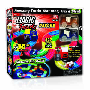 Magic Tracks  As Seen On TV  Metal/Plastic/Polyester  Car Race Tracks