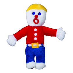 MultiPet  Multicolored  Mr Bill  Plush  Dog Toy  Medium  1