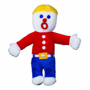 MultiPet  Multicolored  Mr Bill  Plush  Medium  Dog Toy