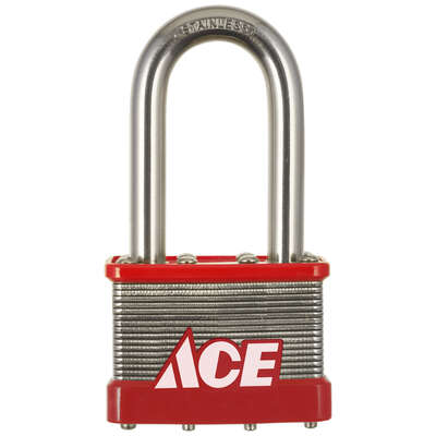 Ace  1.5 in. H x 2 in. W Stainless Steel  4-Pin Cylinder  Padlock  1 pk
