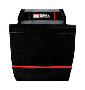 McGuire Nicholas  6-1/4 in. W x 12-1/2 in. H Polyester  Tool Pouch  8 pocket Black  1 pc.