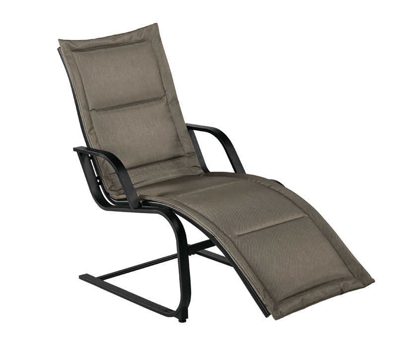 Living Accents  Brown  Steel  Chaise Lounge  Wilmington