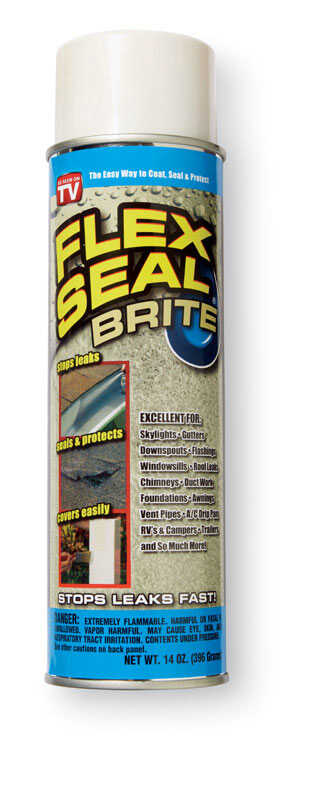 Flex Seal  Satin  Off White  Rubber Spray Sealant  14 oz.