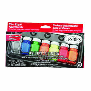 Testors  Fluorescents  Hobby Paint  7 pc.